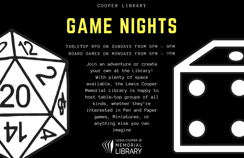 Game Nights joint ad