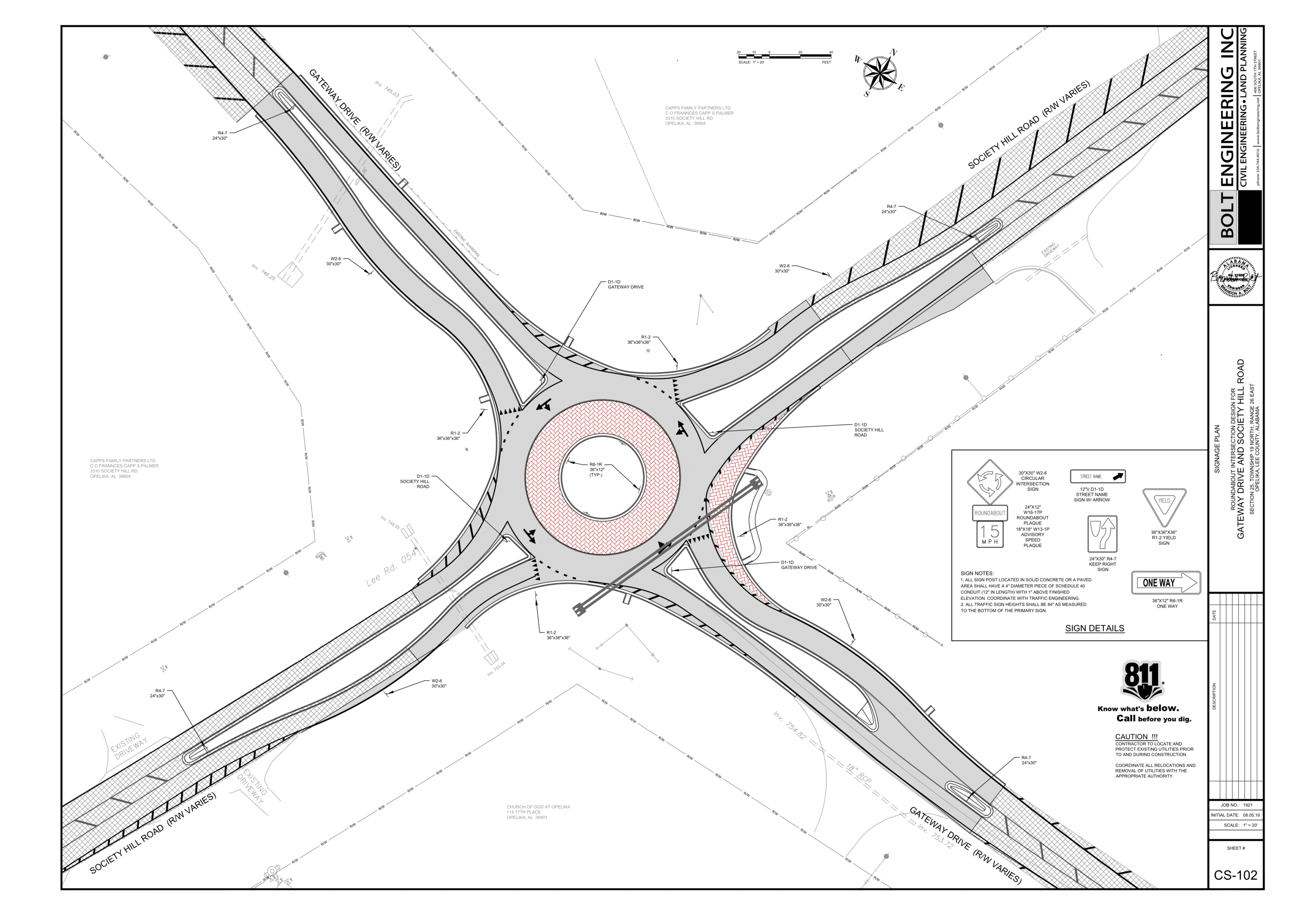 Roundabout traffic control plans