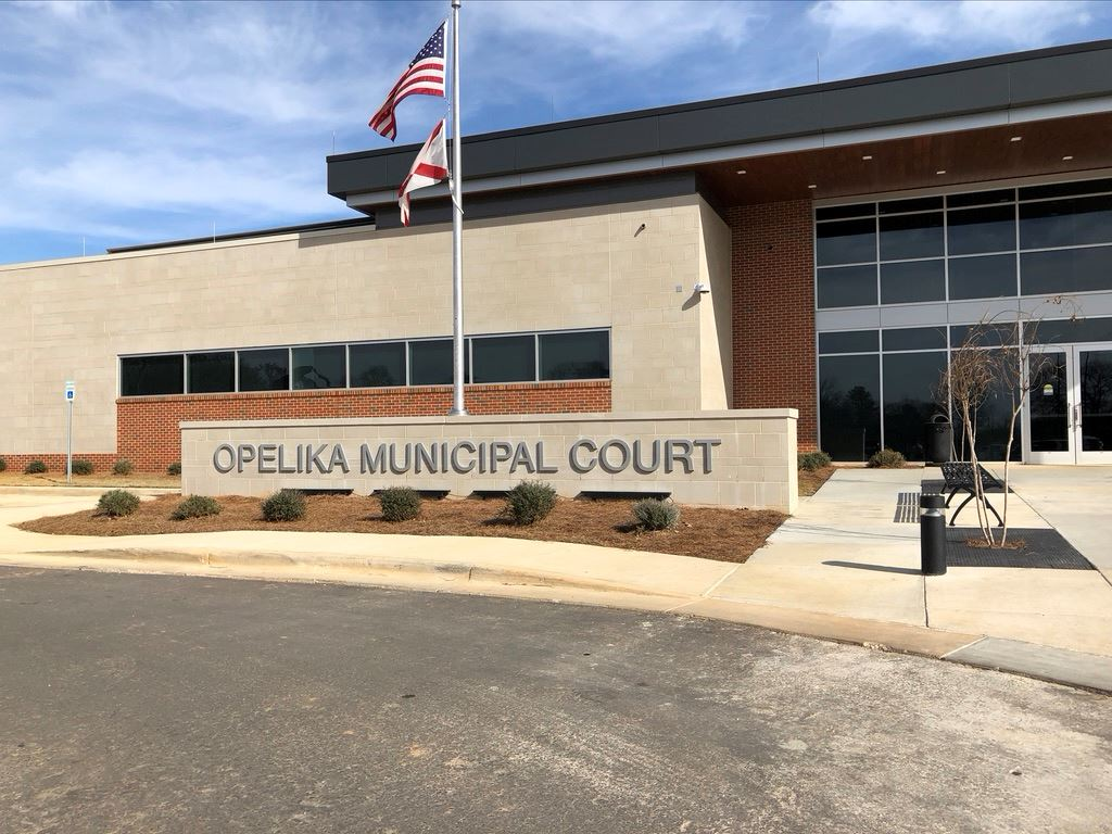 Opelika Municipal Court Entrance